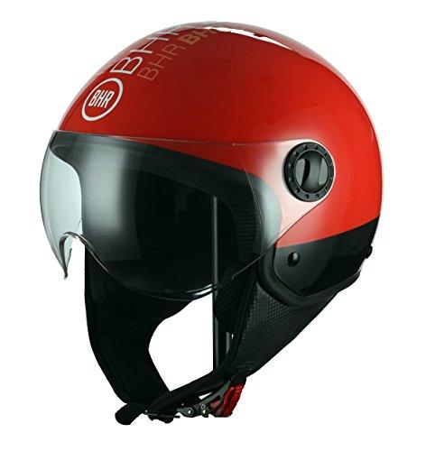 BHR 38707 Casco Moto Demi-Jet Linea One 801, Style Rojo, M (57/58 cm)