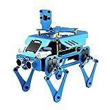 LeftSuper Robot de Acoplamiento de programación de educación científica Robot Tres en uno Robot de aleación de Aluminio Duradero Estable para niños Educación para niños