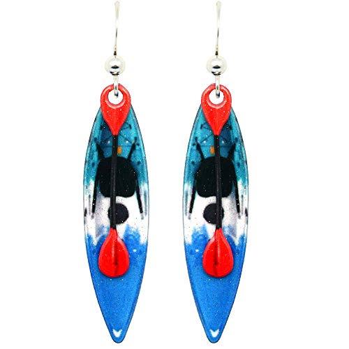 Kayak Earrings by d'ears Non-Tarnish Sterling Silver French Hook Ear Wire