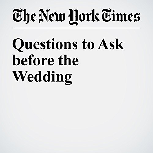 Questions to Ask before the Wedding cover art