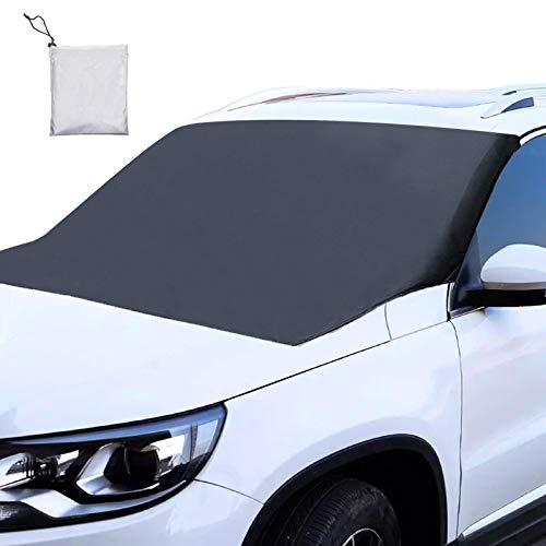 Super-GG Windshield Snow Cover, Car Windshield Snow Cover, Extra Large & Durable Windshield Cover for Ice and Snow, Waterproof Windshield Snow Ice Cover Fit for Most Vehicle