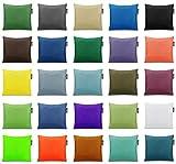 BuBiBag Dekokissen Zierkissen Sofakissen Einfarbig Dekorative Kissen in 32 Farben & 3 Größen...