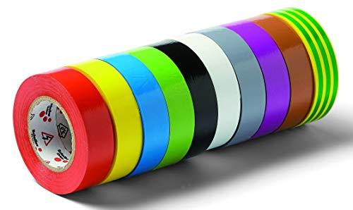 Schuller Eh'klar VOLT Isolierbänder mit VDE Zulassung 6kV (10 Stück), 10 Stück, VDE Zulassung isolieren 44040