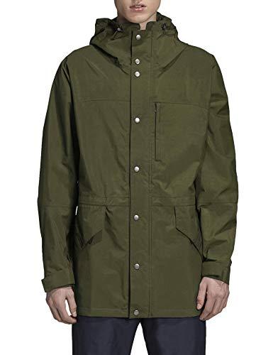 COOFANDY Men's Waterproof Rain Jacket Lightweight Windbreaker Active Outdoor Hooded Long Raincoat Army Green