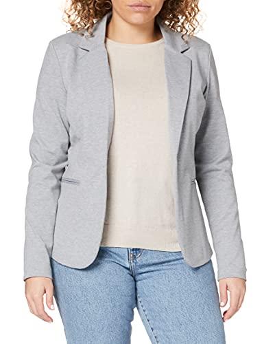 ICHI Damen KateIH Bl Blazer, Grau (Grey Melange 10020), 42 (Herstellergröße: XL)