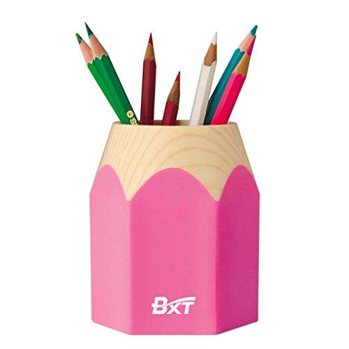 Bao Core BXT Fashionable Adorable Creative Cartoon Pencil Stub Shape Waterproof Pen Pencil Holder Box Cup Pink