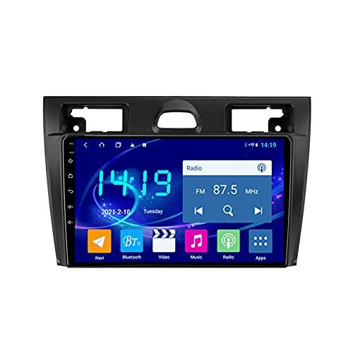 MGYQ Android 1080P Radio Coche, con Cámara Trasera Radio Multimedia Car, Soporte Bluetooth/Radio FM/Enlace Espejo/WiFi/AUX Entrada/Carplay/SWC, para Ford Fiesta Mk5 2002-2008,Quad Core,WiFi 1+16