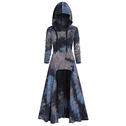 WYZTLNMA Plus Size Vintage Hoodie Printed Cloak High Low Casual Loose O-Neck Sweatshirt Autumn Women Pullover Tops Streetshirt