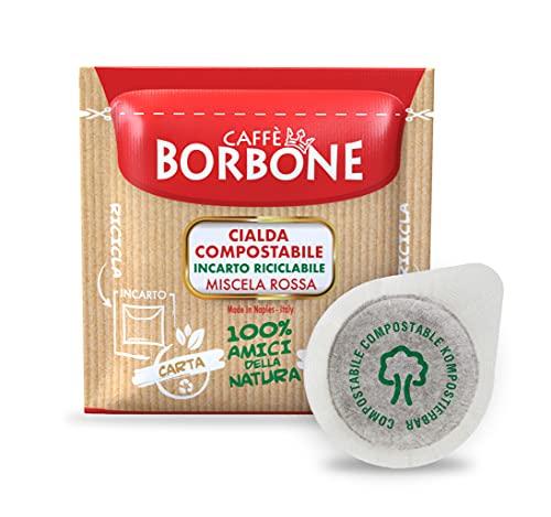 Caffè Borbone Kaffee Kompostierbare Pods, Recyclebare Verpackung, Rote Mischung - 150 stück - Kompatibel mit ESE System Papier Pads 44 mm
