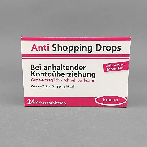 Anti Shopping Drops Scherztabletten 1 Packungen a 22g Bei anhaltender Kontoüberziehung
