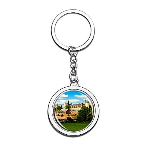 Großbritannien England Arundel Castle Schlüsselbund Kristall Spin Rostfreier Stahl Schlüsselring Reisen Stadt Andenken
