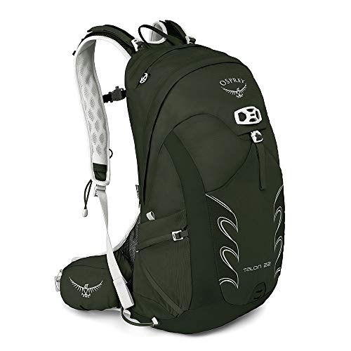 Osprey Packs Talon 22 Men's Hiking Backpack, Medium/Large, Yerba Green