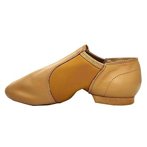S.lemon Zapatos de Baile Zapatillas de Jazz sin Cordones para Niñas Mujer Beige 42