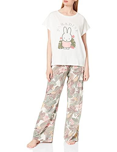 Women' Secret Pijama Largo Manga Corta algodón Miffy, Marfil, XL para Mujer