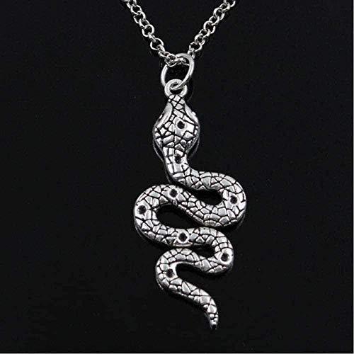 ZPPYMXGZ Co.,ltd Necklace Fashion Cobra Snake Necklace Round Pendant Cross Chain Short Long Men Women Silver Color Necklace Jewelry Gift Round Chain 45cm Length Pendant Necklace for Women Men