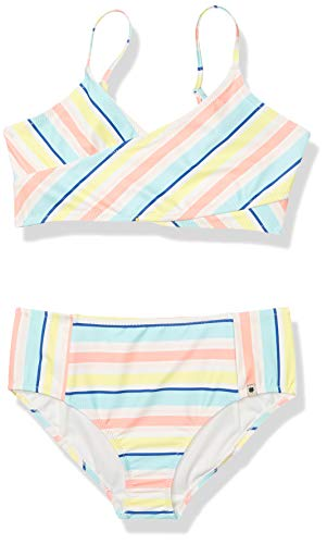 Lucky Brand Girls Two-Piece Swimsuit, Addison Blue Tint, Small (7)