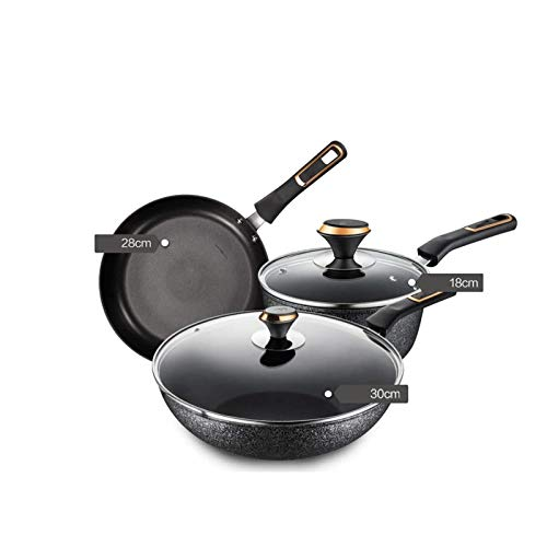 YYCHJU Cookware Set for Gas, Electric and Stovetop 7-Piece Hard Anodized Cookware Set Non-Stick Kitchen Pots and Pans
