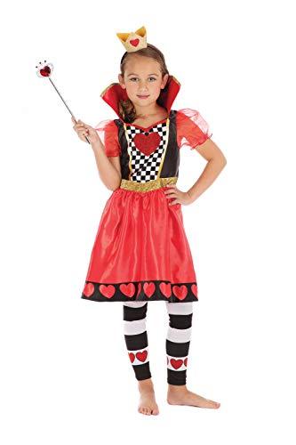 Bristol Novelty Disfraz infantil de reina de corazones, de 10 a 12 años