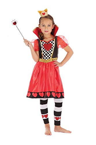 Bristol Novelty Kinderkoningin van harten kostuum