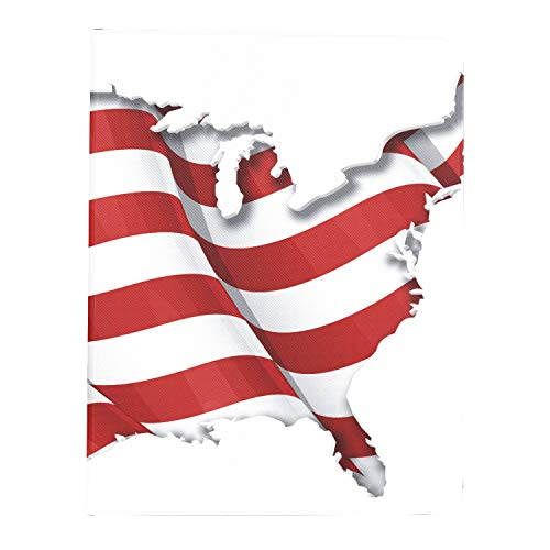 AQQA Case For Ipad Pro 11 Inch 2nd & 1st Generation 2020/2018 TabletLaptopCase Us Flag Map Inner Shadow IpadproCaseCute Support Ipad 2nd Gen Pencil Charging