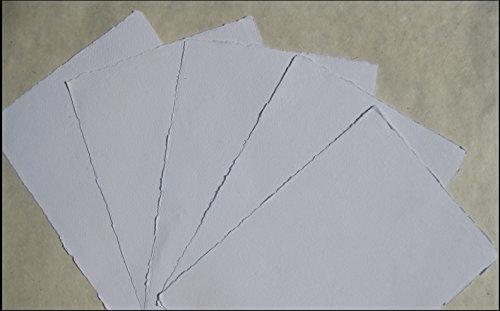 handgeschöpftes Büttenpapier Aquarellpapier A2 10 Bogen/Set naturweiß 200g/m² BaumwollLinters