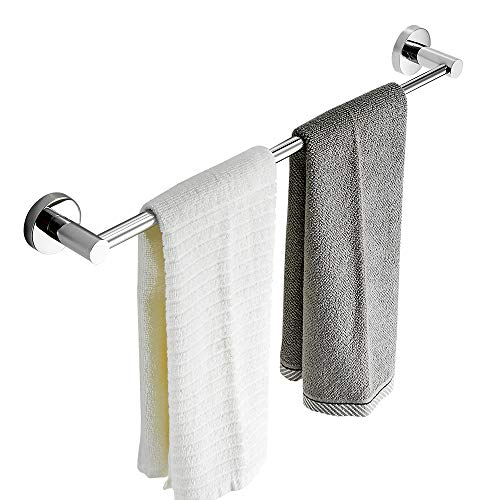 BESy Adjustable Single Towel Bar for Bathroom SUS304 Stainless Steel Towel Holder, Wall Mount with Screws Towel Bar Rod Hotel Style, Polished Chrome,15.2 to 27.8 Inch