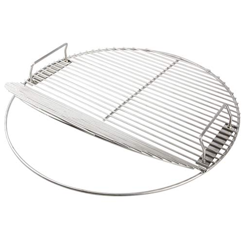 Mydracas Stainless Steel Cooking Grate 21.5 inch Kettle Grill Grate 100% 304 Stainless Steel Food Grade Safe for 22.5 inch Weber Charcoal Grills