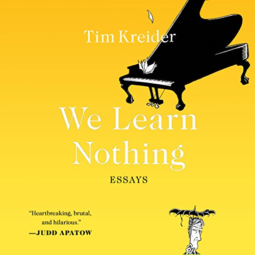We Learn Nothing audiobook cover art