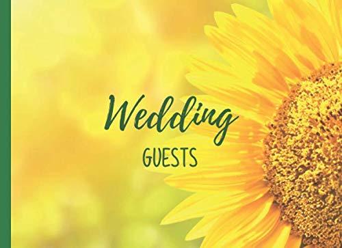 Wedding Guests: A Cheerful Sunflower Wedding Guest Book