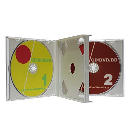 日本製に変更しましたPS24mm厚 2枚収納マルチケース ホワイト3個セット アマゾン配送CDケース Blu-rayDiscにも最適