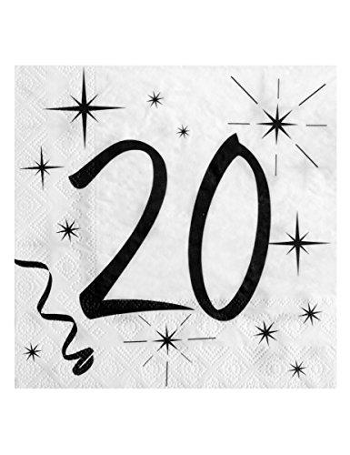 Santex Witte handdoek Verjaardag (x20) - ref/5241