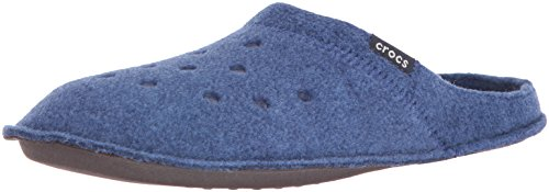crocs Classic Slipper, Unisex-Erwachsene Ungefüttert Hausschuhe, Blau (Nautical Navy/Oatmeal), 46-47 EU (11 UK)