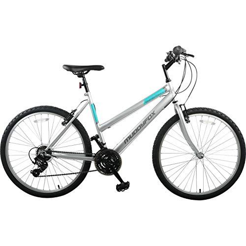 Muddyfox Synergy Ladies Mountain Bike Silver/Mint 26 Inch