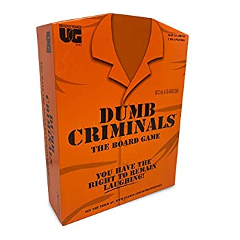 University Games Dumb Criminals Board Game The Hilarious Party Game of True or False for 2 to 4 Players Ages 12 and Up Perfect for Family or Adult Party Game Night