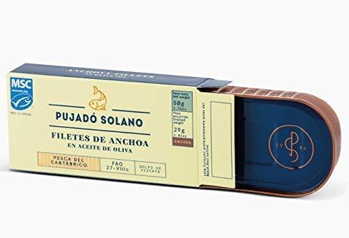 DEU Pujado Solano Filetti di Acciughe del Cantabrico in olio di oliva   Acciughe del Mar Cantabrico lavorate a mano   Acciughe Cantabrico set da 2 da
