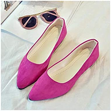 Women Flats Pointed Toe Slip On Flat Shoes Woman Ballet Flats Faux Suede Shallow Shoes Loafers