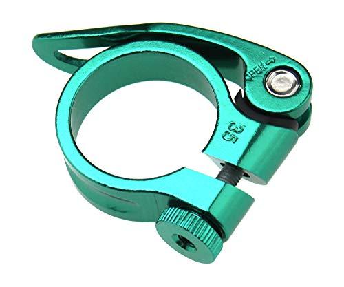 34,9 mm snabbfrigörande cykelsits post klämma aluminiumlegering tubklämma för mountainbike (grön)