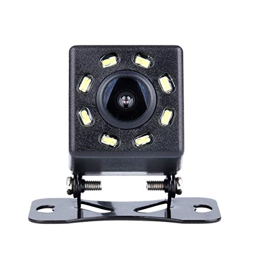 Dr.Lefran Cámara de Respaldo de Coche, Visión Nocturna Píxeles de plástico a Prueba de Agua Alambre HD, Cámara de visión Trasera Universal para automóvil Kit de Monitor,8 Lights