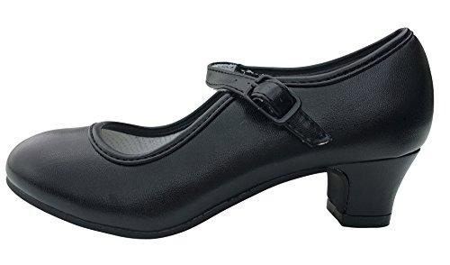 La Senorita Spanische Flamenco Schuhe - Schwarz - Größe 38 - Innenmaß 24 cm
