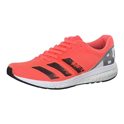 adidas Men's Adizero Boston 8 M Running Shoe, Signal Coral/CORE Black/FTWR White, 6 UK