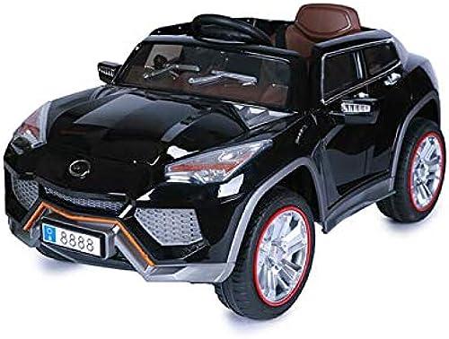 Moni Kinder Elektroauto JJ288 mit Fernbedienung, Musikfunktion, LED-Beleuchtung Schwarz