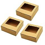 Tomedeks Caja De Pastel De Papel Natural De 12 Piezas, Utilizada Para Cupcakes Y...