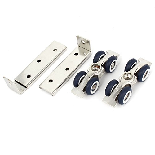 YeVhear 1 Paar 2,2 cm Durchmesser Rollen aus Kunststoff Schrank Schiebetür Rollenware