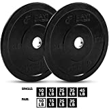 """Day 1 Fitness Olympic Bumper Weighted Plate 2"""" For Barbells, Bars – 10 lb..."""