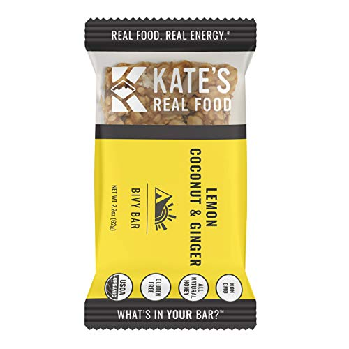 Kate's Real Food Organic Granola Bars 12 Pack | Clean Energy, Organic Ingredients, Gluten Free, Non GMO | All Natural Delicious Health Snack (Lemon Coconut)