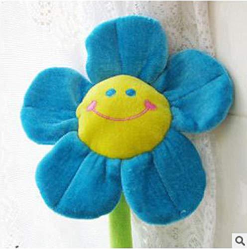 NIANMEI Sol Flor de Peluche de Dibujos Animados Carita Feliz @ Azul 75cm 0.08