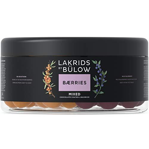LAKRIDS BY BÜLOW - BÆRRIES - Mixed - 550g - Dänische Gourmet Lakritz-Kugeln mit Sanddorn Beeren und Wilden Blaubeeren - Süßigkeiten Geschenk für Lakritze Liebhaber