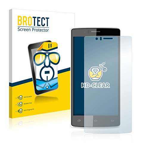 BROTECT Schutzfolie kompatibel mit Archos 50d Helium (2 Stück) klare Bildschirmschutz-Folie