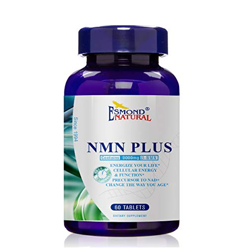 Esmond Natural: NMN Plus (Changes The Way You Age, 300mg NMN+30mg Trans Resveratrol, Total 9000mg Beta-NMN), GMP, Natural Product Assn Certified, Made in USA - 330mg, 60 Tablets