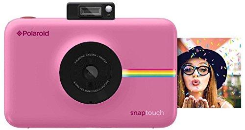 Polaroid Snap Touch - Cámara digital con impresión instantánea y pantalla LCD con tecnología Zero Zink, rosa